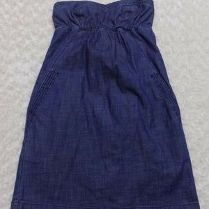 American Eagle Outfitters Denim Strapless dress